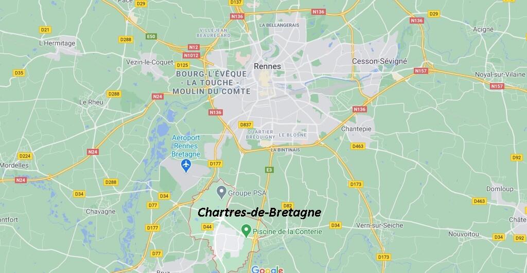 Où se situe Chartres-de-Bretagne (35066)