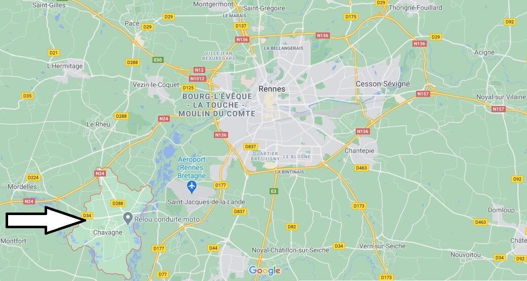 Où se situe Chavagne (35310)