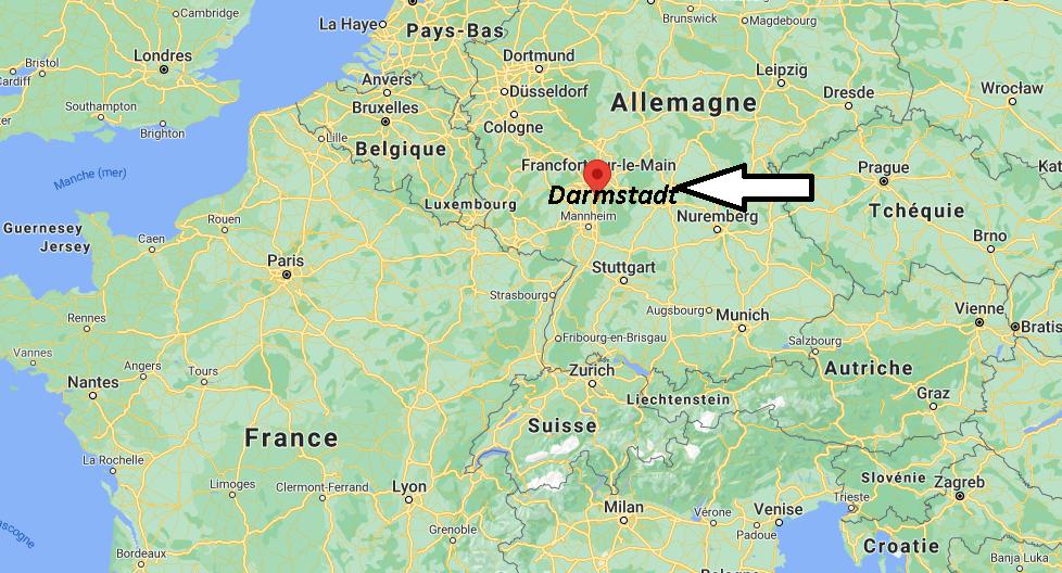 Où se situe Darmstadt