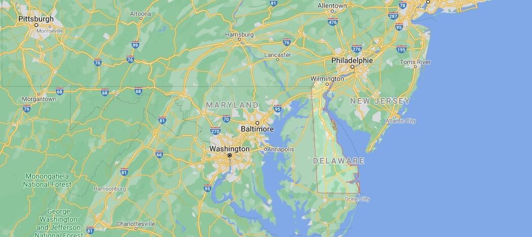Où se situe Delaware