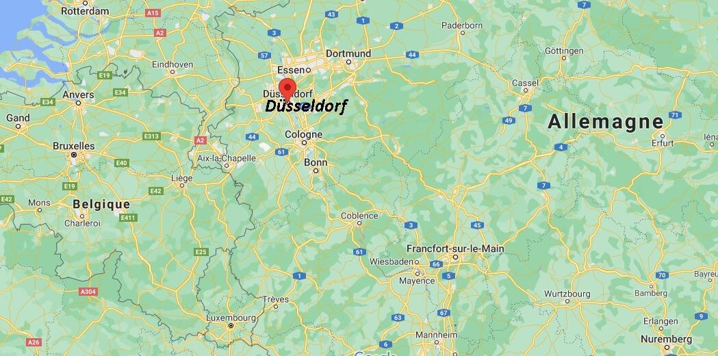 Où se situe Düsseldorf