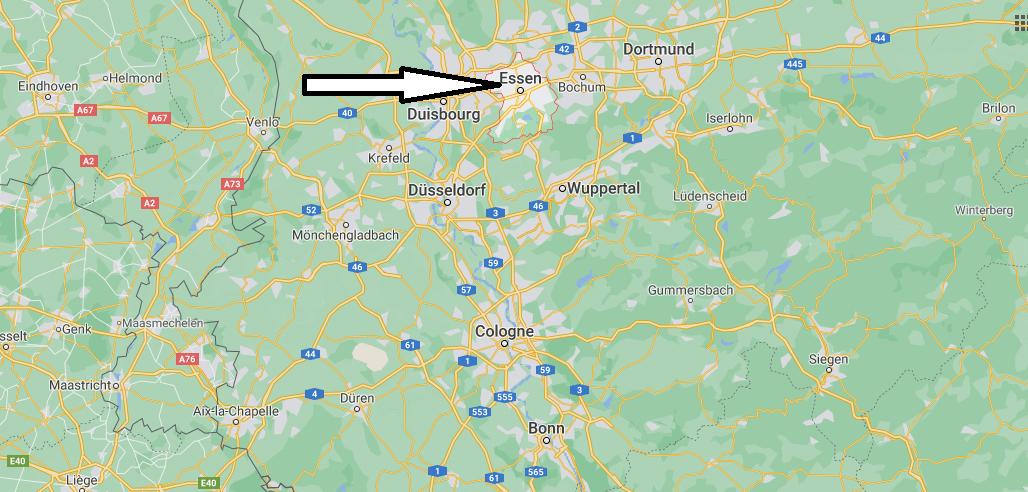 Où se situe Essen
