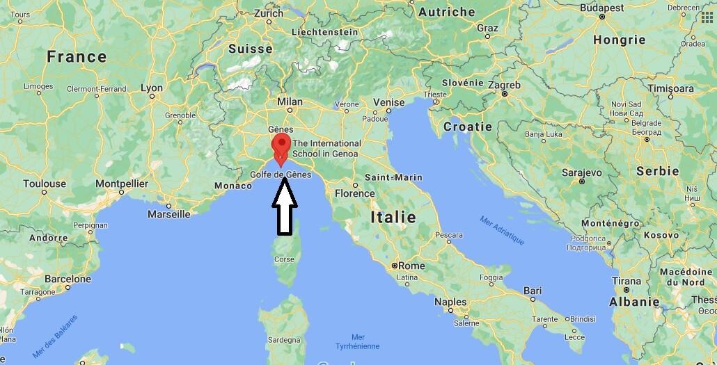 Où se situe Gênes