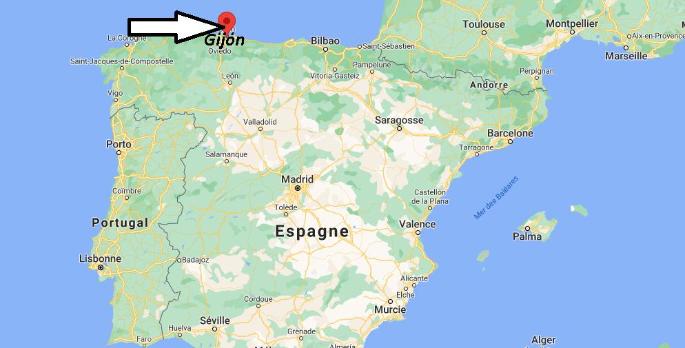 Où se situe Gijón