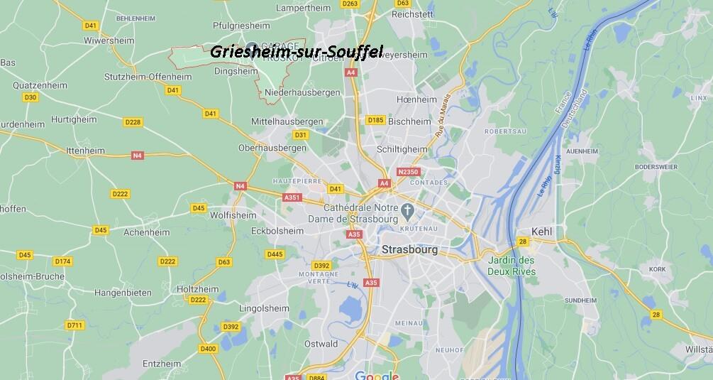 Où se situe Griesheim-sur-Souffel