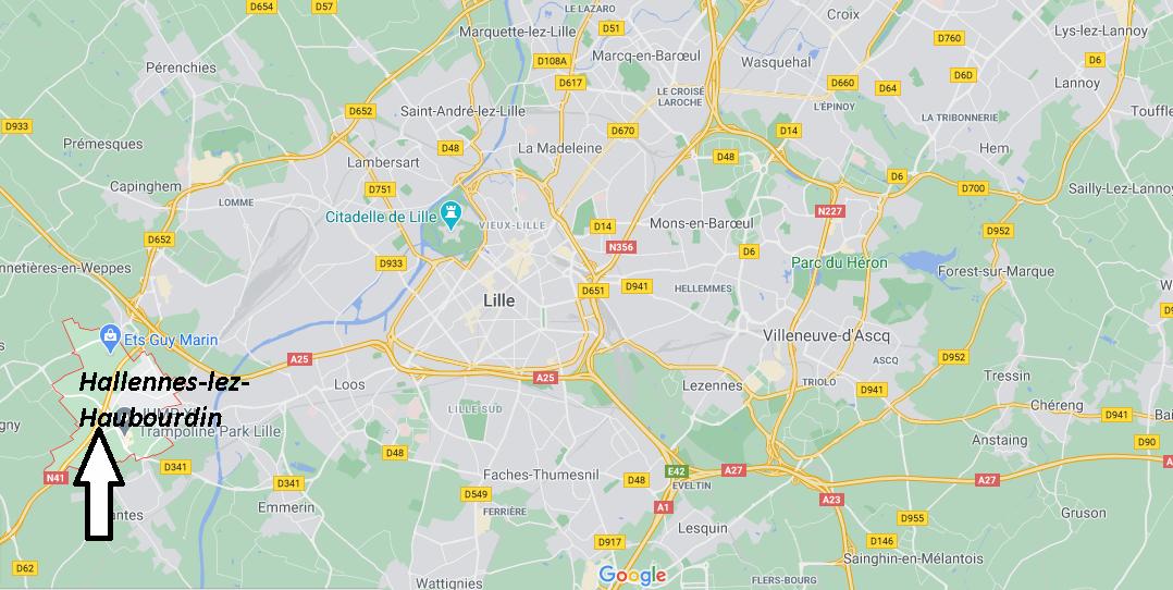 Où se situe Hallennes-lez-Haubourdin (59320)