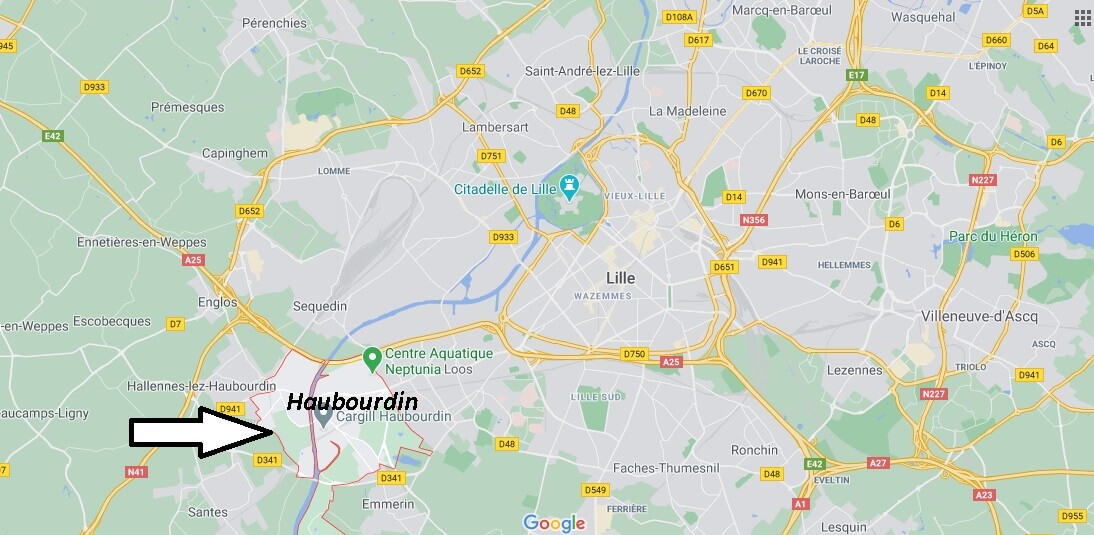 Où se situe Haubourdin (59320)