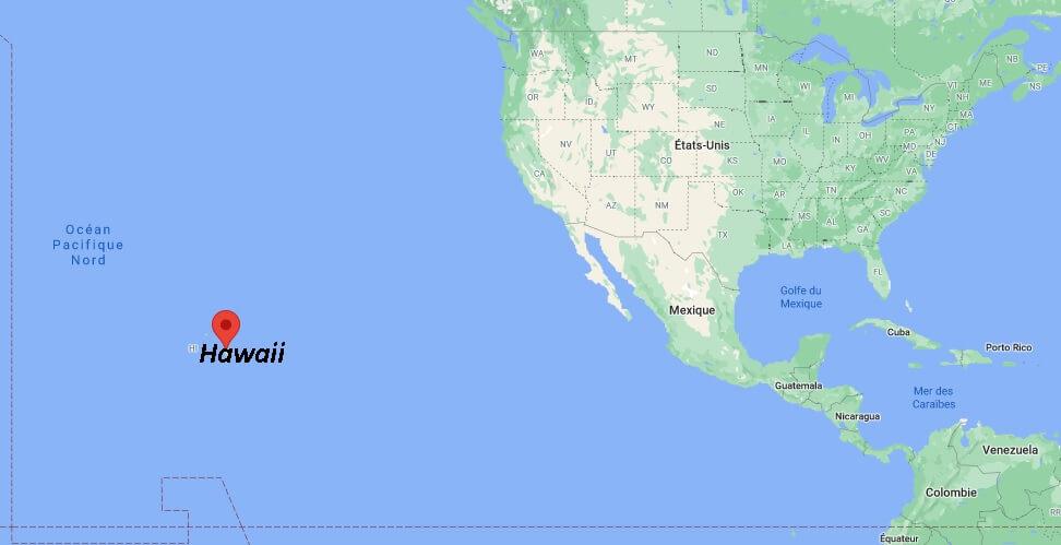 Où se situe Hawaii