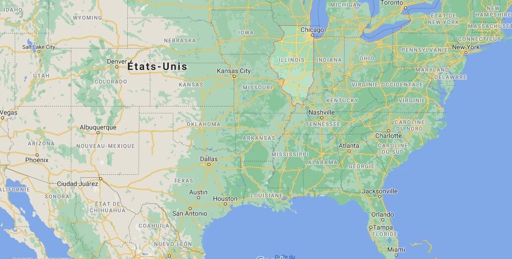Où se situe Illinois
