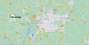 Où se situe L-Hermitage (35590)