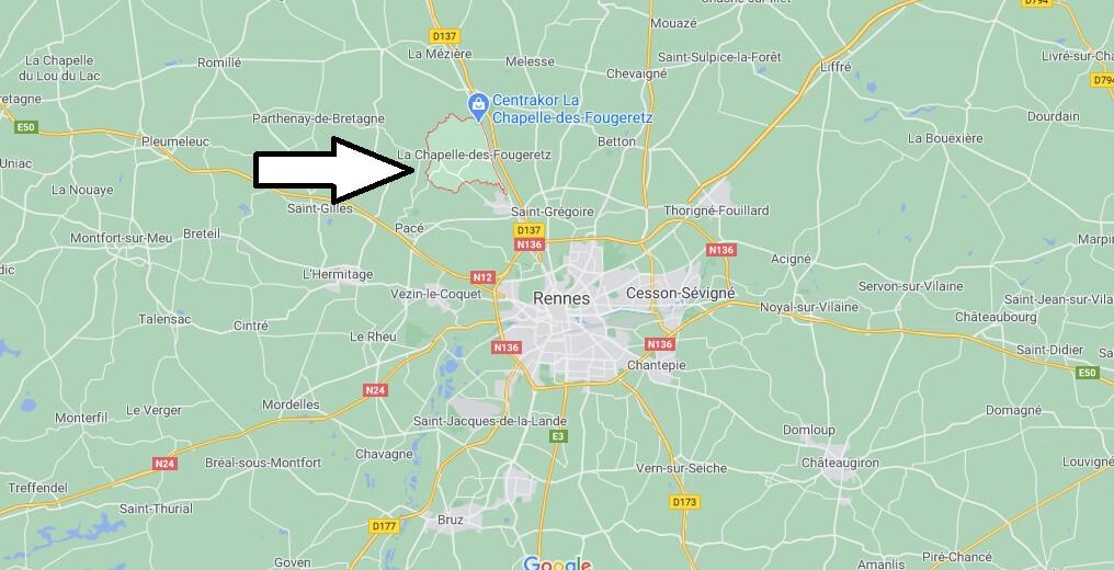 Où se situe La Chapelle-des-Fougeretz (35520)