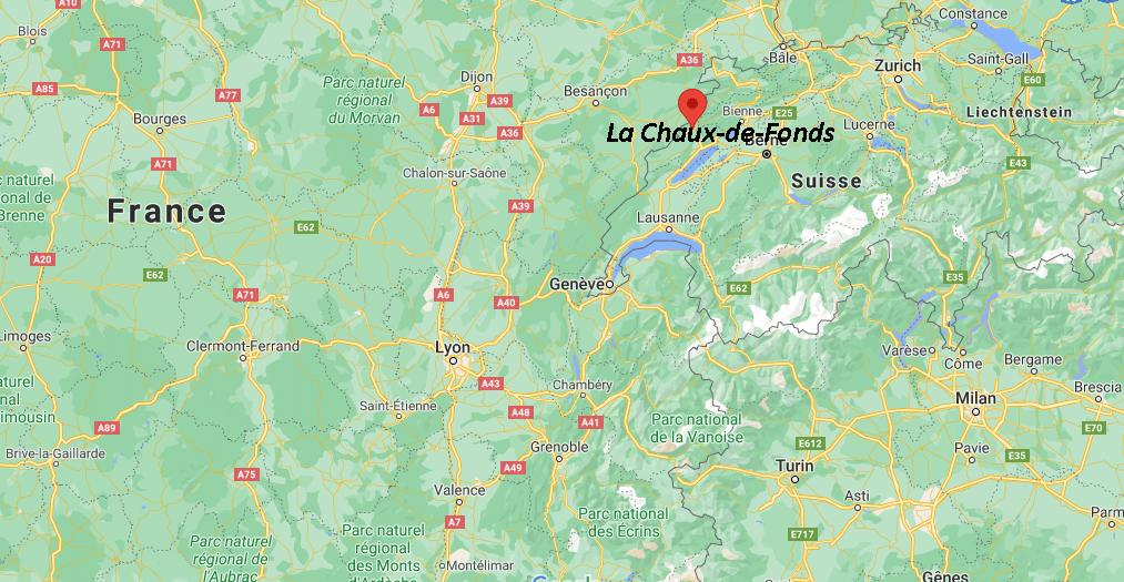 Où se situe La Chaux-de-Fonds