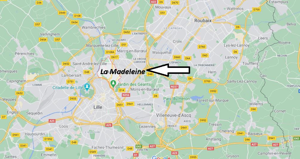 Où se situe La Madeleine (59368)