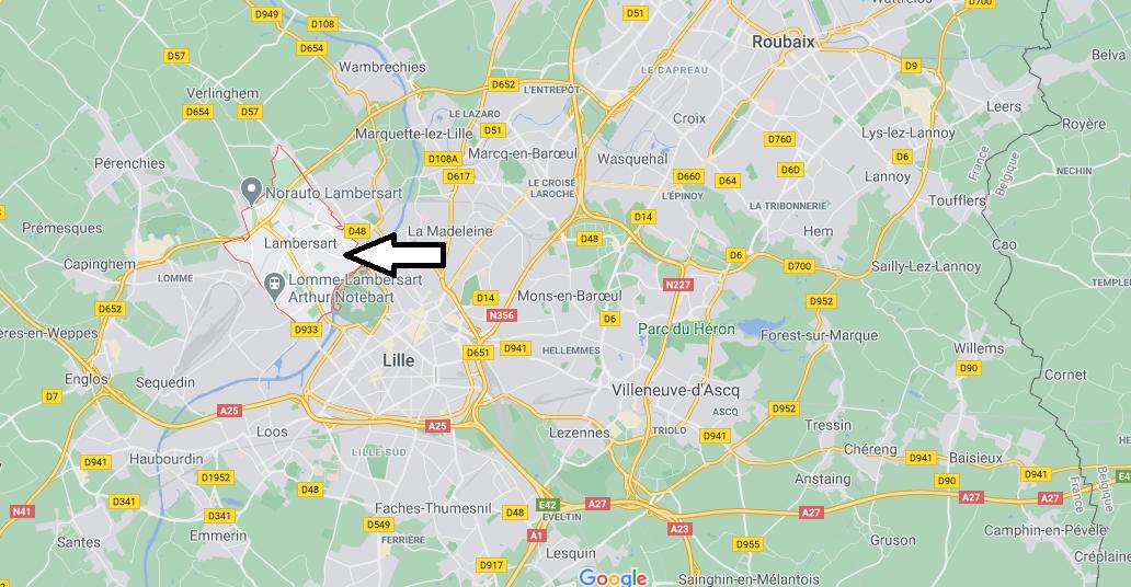 Où se situe Lambersart (59328)