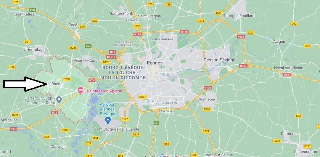 Où se situe Le Rheu (35650)