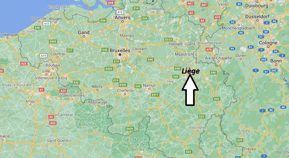Où se situe Liège