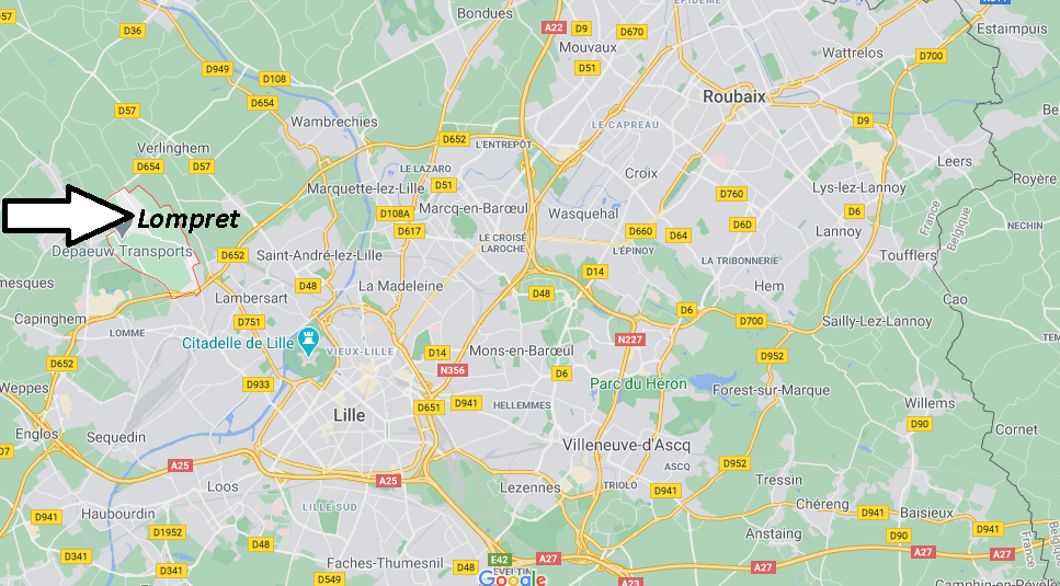 Où se situe Lompret (59840)
