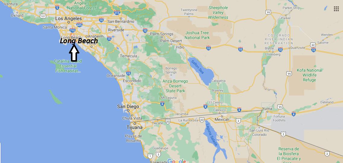 Où se situe Long Beach