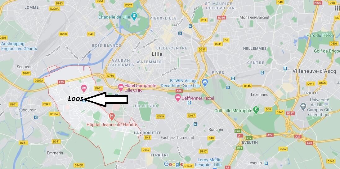 Où se situe Loos (59120)