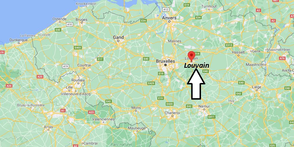 Où se situe Louvain