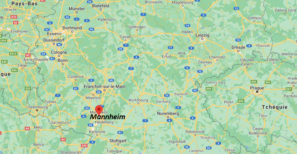 Où se situe Mannheim