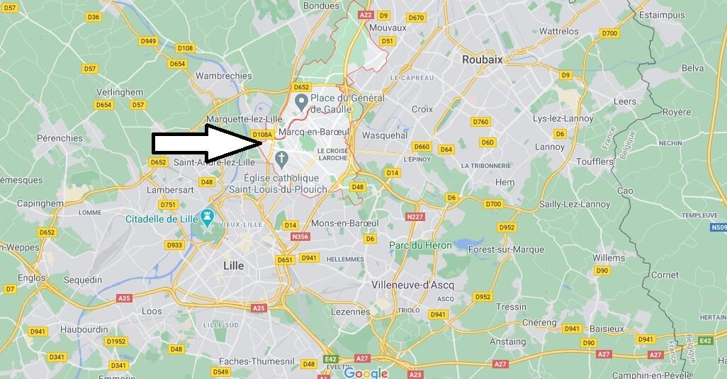 Où se situe Marcq-en-Barœul (59700)