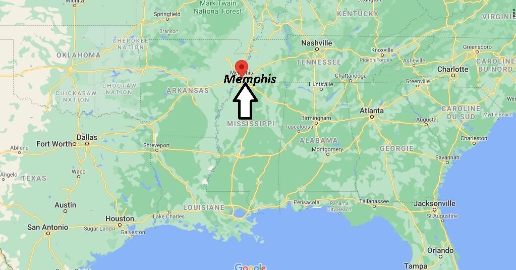 Où se situe Memphis
