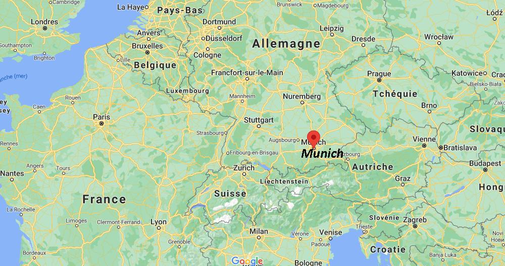 Où se situe Munich
