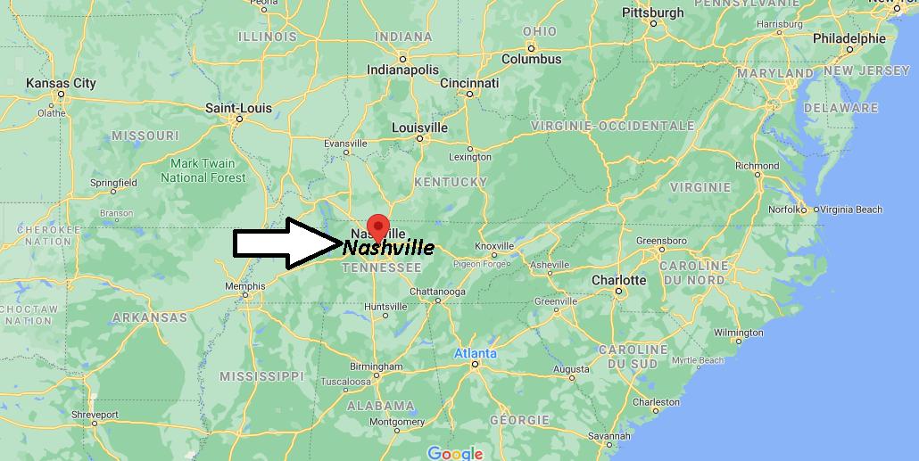Où se situe Nashville