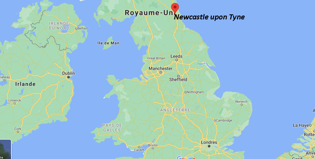 Où se situe Newcastle upon Tyne