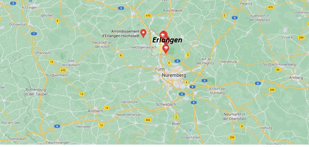 Où se situe Nuremberg and Erlangen