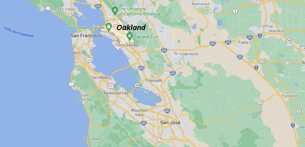 Où se situe Oakland