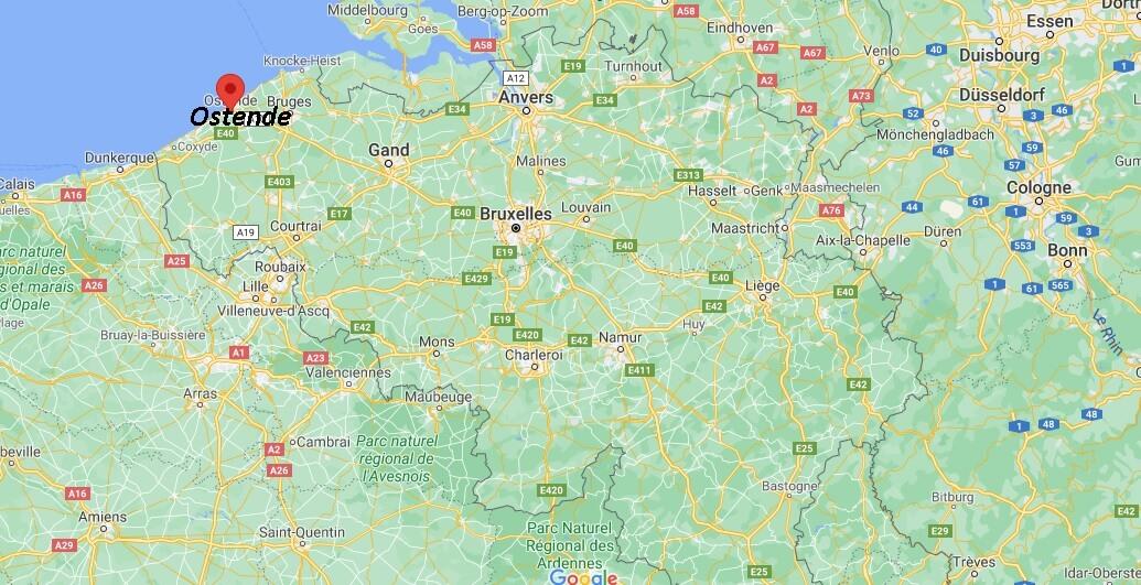 Où se situe Ostende