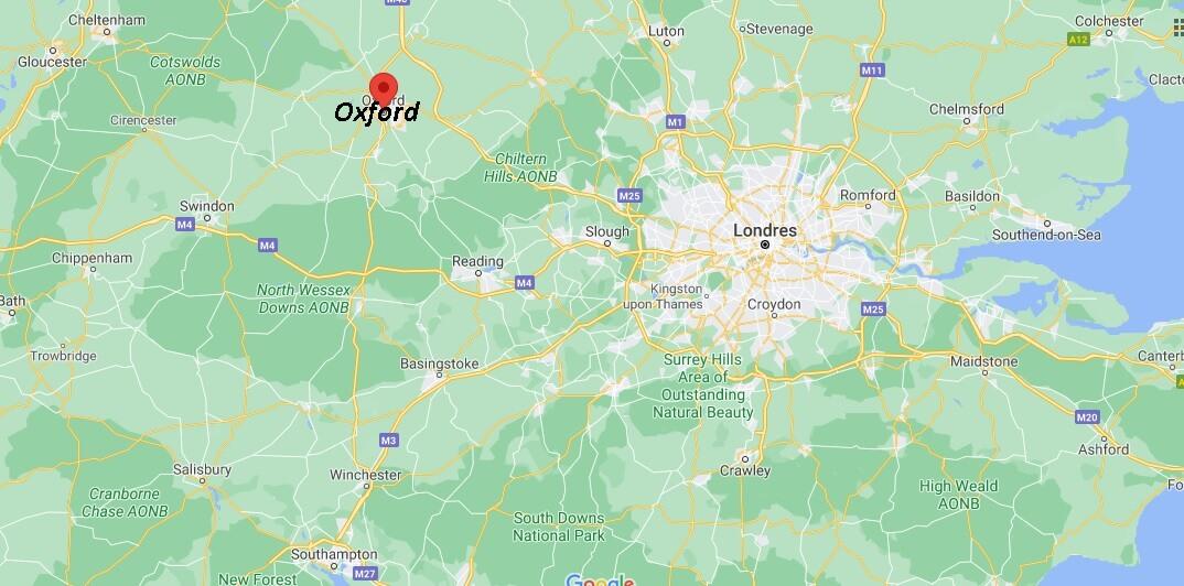 Où se situe Oxford