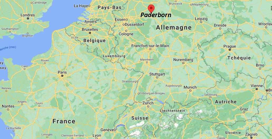 Où se situe Paderborn