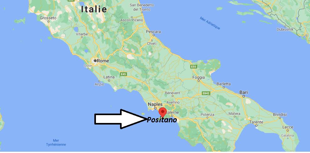 Où se situe Positano
