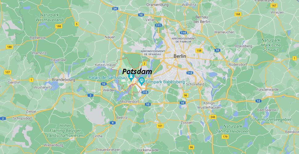 Où se situe Potsdam