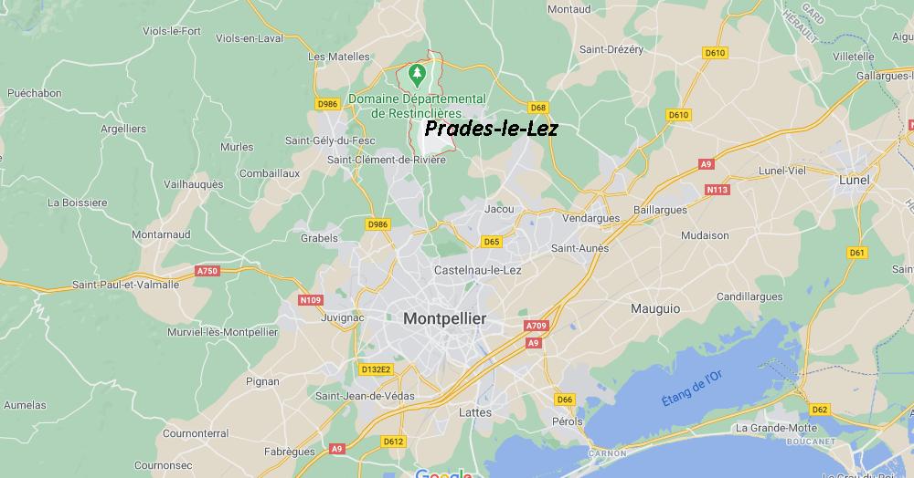 Où se situe Prades-le-Lez (34217)