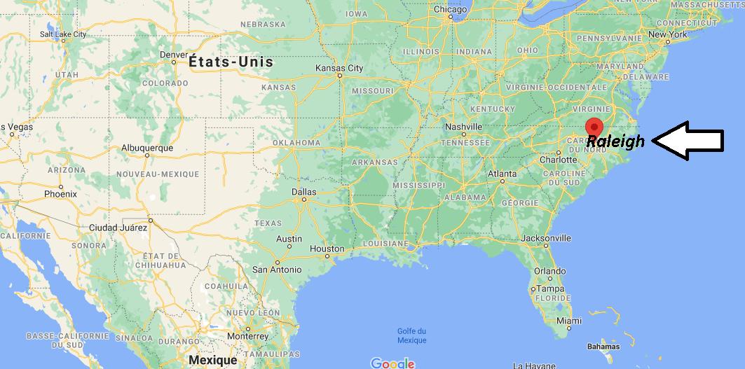 Où se situe Raleigh