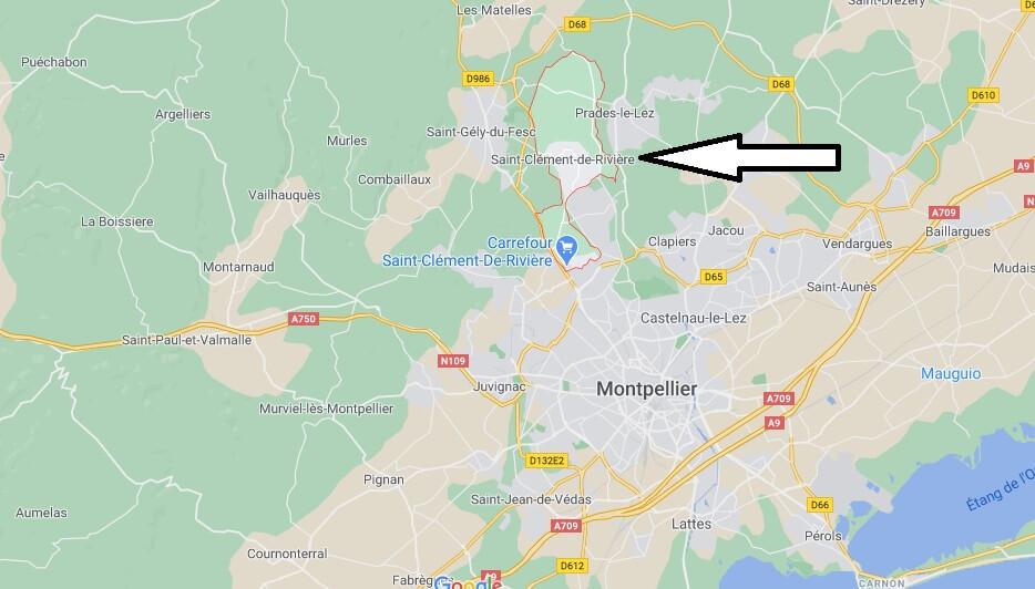 Où se situe Saint-Clément-de-Rivière (34980)