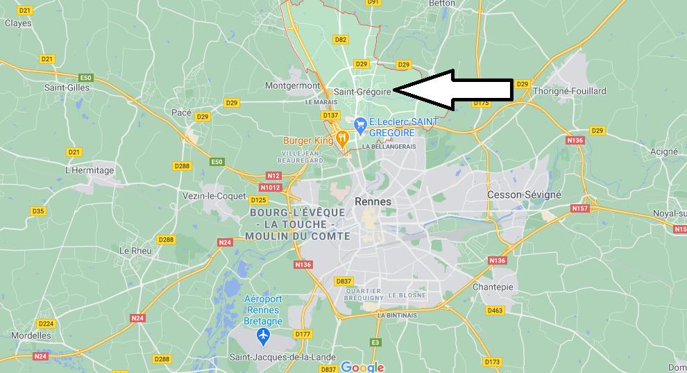 Où se situe Saint-Grégoire (35760)