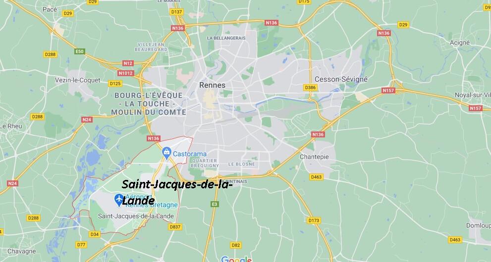 Où se situe Saint-Jacques-de-la-Lande (35136)
