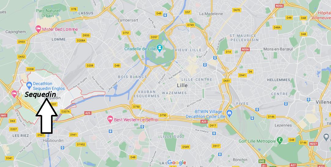 Où se situe Sequedin (59320)