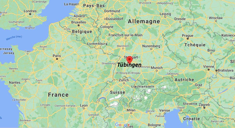 Où se situe Tübingen