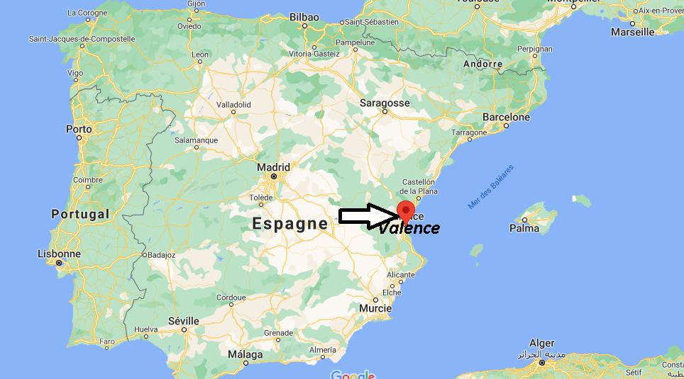 Où se situe Valence