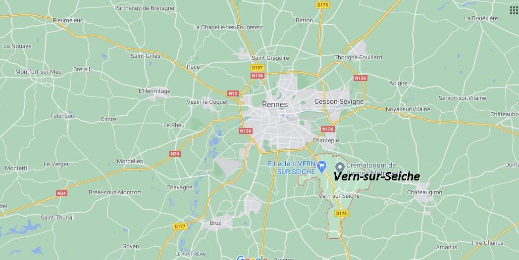 Où se situe Vern-sur-Seiche (35770)