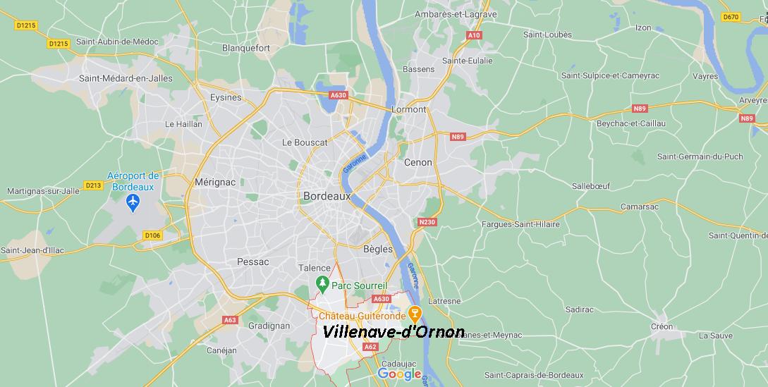 Où se situe Villenave-d-Ornon (33140)