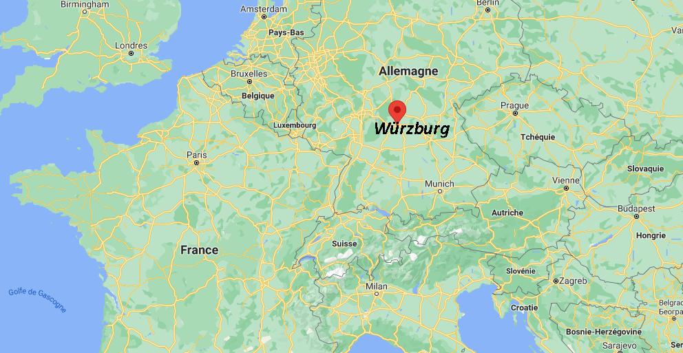 Où se situe Würzburg