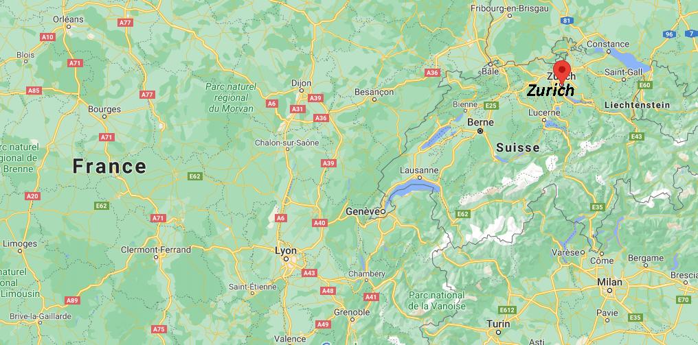 Où se situe Zurich