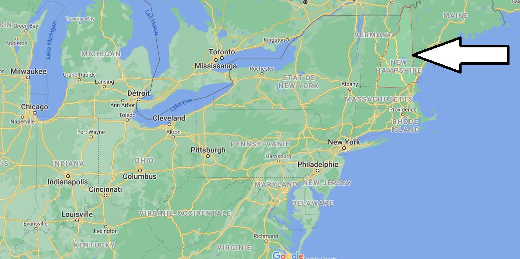 Où se situe du New Hampshire